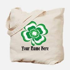 Customizable Stacked Shamrock Tote Bag