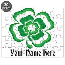 Customizable Stacked Shamrock Puzzle