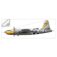 Illustration of a Martin-B-26 Marauder Wall Decal