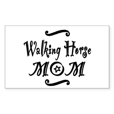 Walking Horse MOM Sticker (Rectangle)
