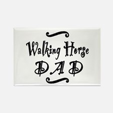 Walking Horse DAD Rectangle Magnet