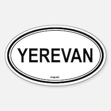 Yerevan, Armenia euro Oval Decal