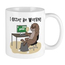 I Otter Be Working Mugs