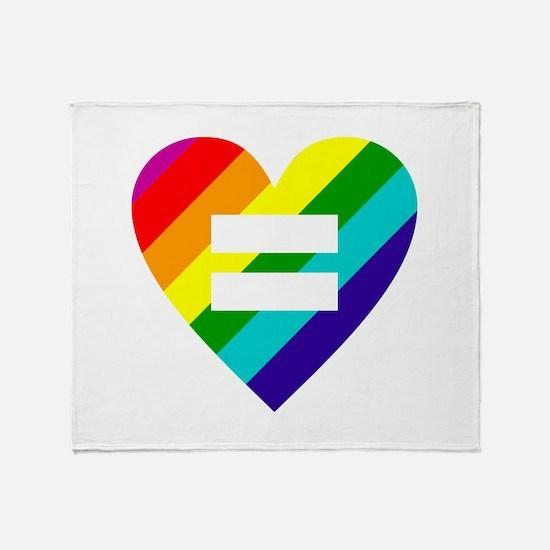 Rainbow love equals love Throw Blanket