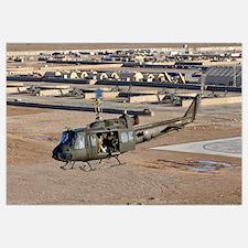 Italian Army AB-205MEP utility helicopter in fligh