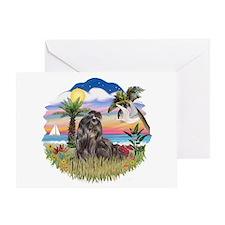 Palms - Black Shih Tzu Greeting Card
