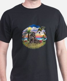 Palms - Black Shih Tzu T-Shirt