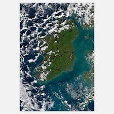 Phytoplankton bloom off the coast of Ireland