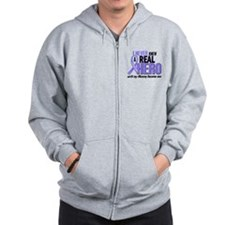 Never Knew a Hero Esophageal Cancer Zip Hoodie
