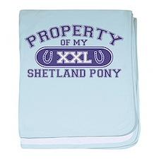 Shetland Pony PROPERTY baby blanket