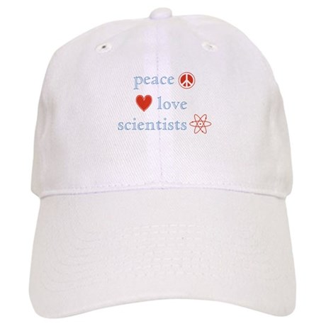 Peace, Love and Scientists Cap