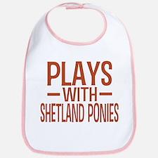 PLAYS Shetland Ponies Bib