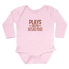 PLAYS Shetland Ponies Long Sleeve Infant Bodysuit