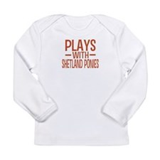 PLAYS Shetland Ponies Long Sleeve Infant T-Shirt