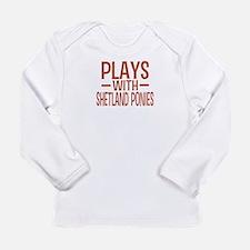 PLAYS Shetland Ponies Long Sleeve Infant T-Shirt