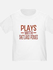 PLAYS Shetland Ponies T