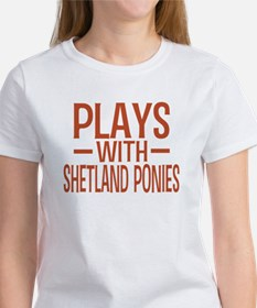 PLAYS Shetland Ponies Women's T-Shirt