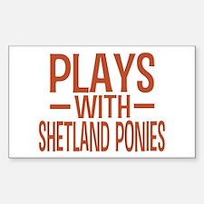PLAYS Shetland Ponies Decal