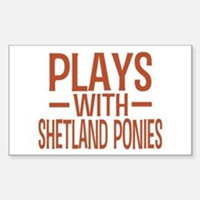 PLAYS Shetland Ponies Sticker (Rectangle)
