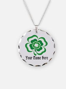 Customizable Stacked Shamrock Necklace