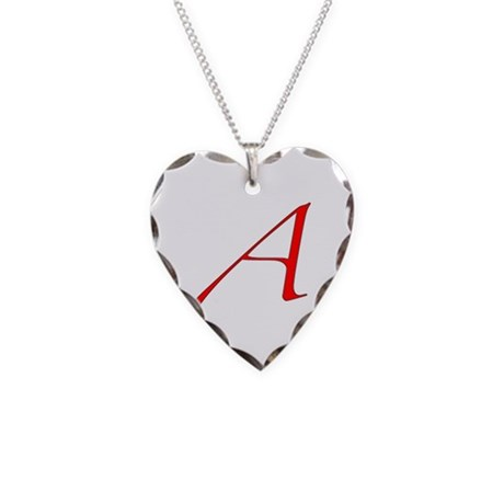 Atheist Necklace Heart Charm