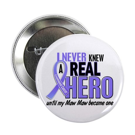 """Never Knew a Hero Esophageal Cancer 2.25"""" Button ("""