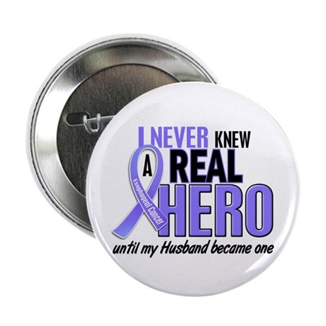"Never Knew a Hero Esophageal Cancer 2.25"" Button"