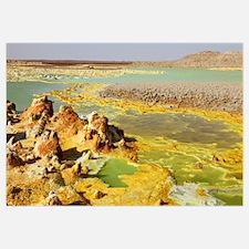 Potassium salt deposits, Dallol geothermal area, D