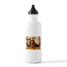 Christmas Dachshund (Ver1) Water Bottle