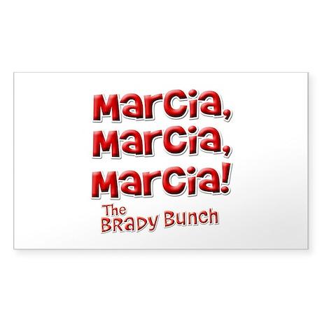 Marcia Brady Bunch Sticker (Rectangle)