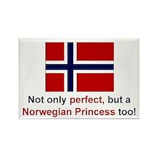 "Perfect Norwegian Princess Magnet (3""x2"")"