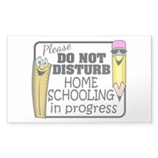 Homeschooling - Do Not Disturb Decal