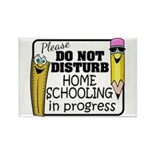 Homeschooling - Do Not Disturb Rectangle Magnet
