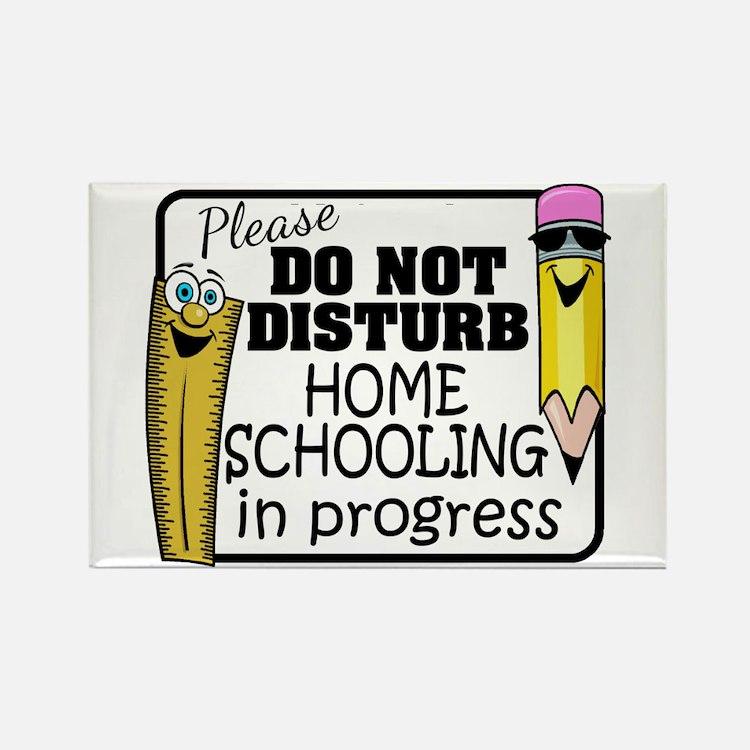 Homeschooling - Do Not Disturb Rectangle Magnet