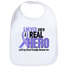 Never Knew a Hero Esophageal Cancer Bib