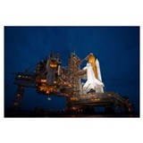 Space shuttle night Wrapped Canvas Art