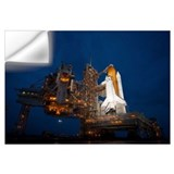 Space shuttle night Wall Decals