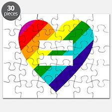 Rainbow love equals love Puzzle