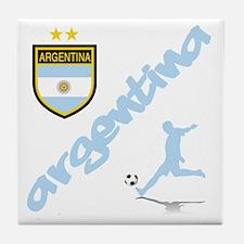 Argentina Soccer Tile Coaster