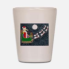 Santa Dachshund Shot Glass