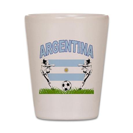 Argentina Soccer Shot Glass
