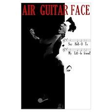 Air Guitar Scarface Parody Wall Art Poster