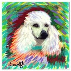 Standard Poodle Wall Art Poster