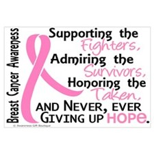 SupportAdmireHonor10 Breast Cancer Wall Art