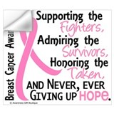 Breast cancer Wall Decals