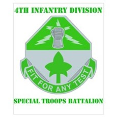DUI - Division - Special Troops Bn with Text Mini Poster