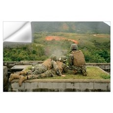 Marines engage unknown-distance targets at Camp Sc Wall Decal