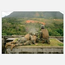 Marines engage unknown-distance targets at Camp Sc