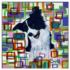 Border Collie Wall Art Canvas Art