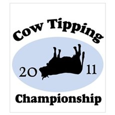 Cow Tipping Championship 2011 Wall Art Canvas Art